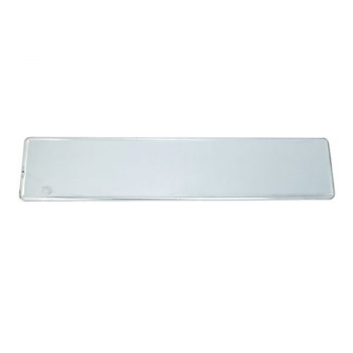 Long Type White License Plate